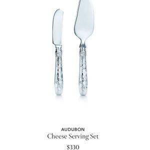 NWT Tiffany sterling silver Audubon Serving Set